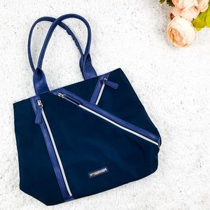 😄 Nine West Blue Zipper style Tote Purse